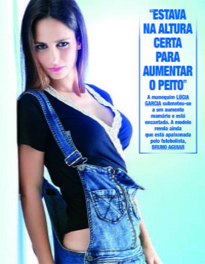 Manequim Lucia Garcia fala de aumentar o peito na MyMoment
